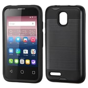 Insten Hard Hybrid Silicone Cover Case For Alcatel One Touch Pixi 4 (3.5) - Black