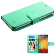 Insten Flip Leather Case For iPhone 6 HTC EVO 4G One M7/M8/X/XL LG G2 Moto X Galaxy S3/S4/S5/S5/S6/S6 Edge Note 7 - Teal