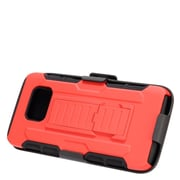 Insten Stand Dual Layer Hybrid Case with Holster For Samsung Galaxy S7 Edge - Red/Black