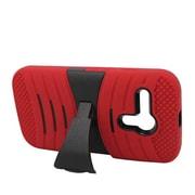 Insten Wave Symbiosis Rubber Hard Case w/stand For Motorola Moto G - Red/Black