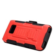 Insten Car Armor Hard Hybrid Plastic Silicone Stand Case with Holster For Samsung Galaxy S7 - Red/Black