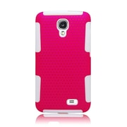 Insten TPU Rubber Hard PC Candy Skin Mesh Case Cover For LG F70 D315 - Hot Pink/White
