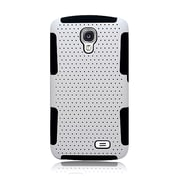 Insten TPU Rubber Hard PC Candy Skin Mesh Case Cover For LG F70 D315 - White/Black