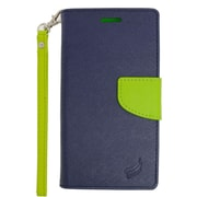 Insten Folio Wallet Leather Case with Card Slot & Lanyard For LG V10 - Dark Blue/Green