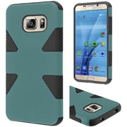 Insten Dynamic Hard Hybrid Rubberized Silicone Cover Case For Samsung Galaxy S7 - Teal/Black