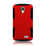 Insten TPU Rubber Hard PC Candy Skin Mesh Case Cover For LG F70 D315 - Red/Black