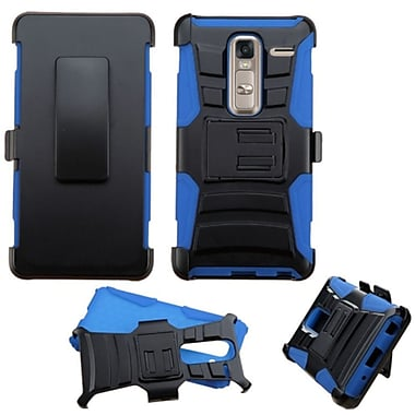 Insten Hard Hybrid Plastic Silicone Cover Case w/Holster For LG Class - Black/Blue