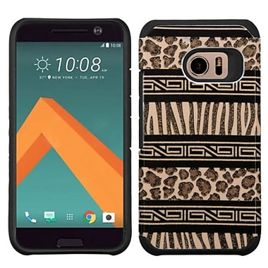Insten Zebra Hard Dual Layer Rubber Silicone Case For HTC One M10 - Brown/Black