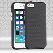 Insten Hard Dual Layer TPU Case For Apple iPhone SE / 5 / 5S - Black