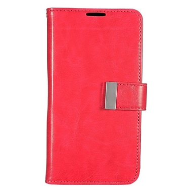 Insten Wallet Leather Case with Card slot & Photo Display For LG G Stylo / G Vista 2 - Red/Black