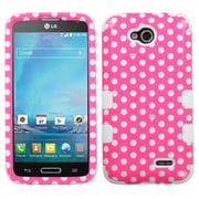 Insten Dots/White TUFF Hybrid Hard Case Shell For LG D415 Optimus L90