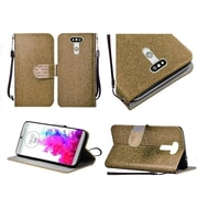 Insten Flip Leather Glitter Cover Case Lanyard w/stand/Diamond For LG G5 - Gold