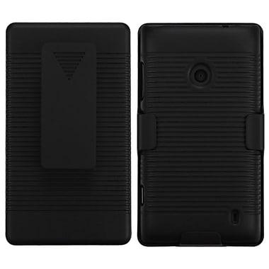 Insten Rubberized Black Hybrid Rugged Hard Shockproof Holster Case For NOKIA Lumia 520