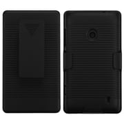 Insten Rubberized Black Hybrid Rugged Hard Shockproof Holster Case For NOKIA Lumia 520