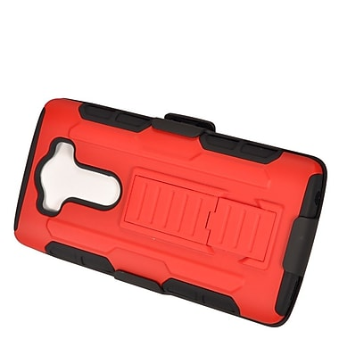 Insten Car Armor Stand Dual Layer Hybrid Case with Holster For LG V10 - Red/Black