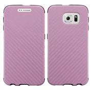 Insten Leather Dual Layer Fabric Hard Cover Case For Samsung Galaxy S6 - Pink