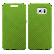 Insten Leather Dual Layer Fabric Hard Case For Samsung Galaxy S6 - Green