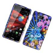 Insten Fireworks Hard Case For Motorola Droid Razr Maxx HD - Blue/Colorful