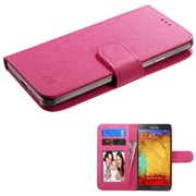 Insten Book-Style Leather Case For iPhone 6 HTC One M7/M8/X/XL LG G2/Volt Moto X Galaxy S3/S4/S5/S5/S6 Note 7 - Hot Pink