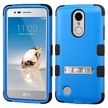 Insten TUFF Hybrid Stand Case [Military-Grade] For LG Aristo / Fortune / K8 (2017) / LV3 / Phoenix 3 - Dark Blue/Black