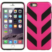 Insten Hard Hybrid Cover Case for Apple iPhone 6 / 6s - Hot Pink