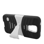 Insten Wave Symbiosis Gel Hybrid Rubber Hard Cover Case w/stand For Samsung Galaxy S5 - Black/White
