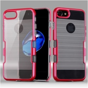 Insten Dual Layer Hard Hybrid TPU Case For Apple iPhone 7 - Red