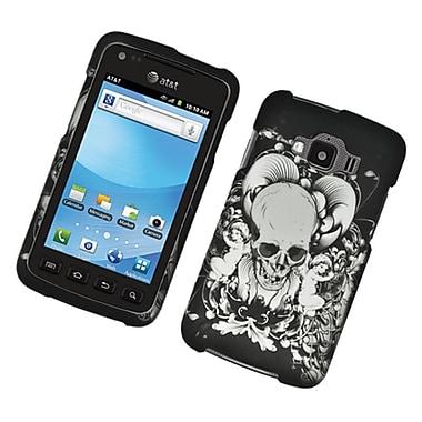 Insten Skull Hard Rubber Cover Case For Samsung Rugby Smart - Black/White