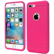 Insten Rugged Soft Rubber Cover Case For Apple iPhone 7 Plus - Hot Pink