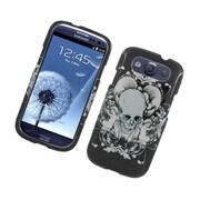 Insten Skull Hard Case For Samsung Galaxy S3 - Black/White