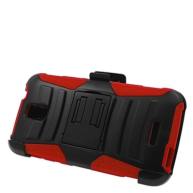 Insten Stand Dual Layer Hybrid Case with Holster For Alcatel One Touch Pop Astro - Black/Red
