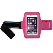 Insten Hot Pink Adjustable Armband Sportband Key Holder for iPhone 6s 6 + Samsung Galaxy Grand Prime/Core Prime/S7 Edge