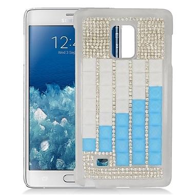Insten Checker Hard Diamond Case For Samsung Galaxy Note Edge - Silver/Blue