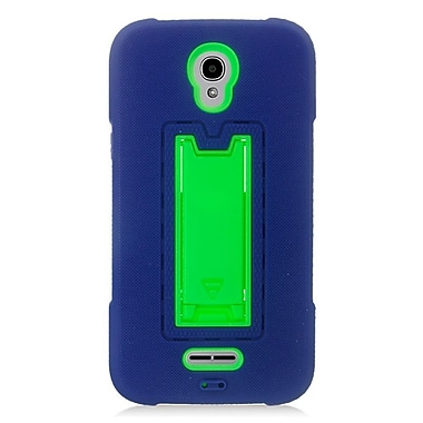 Insten Symbiosis Rubber Hybrid Hard Cover Case For Alcatel One Touch Elevate - Blue/Green