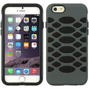 Insten Hard Dual Layer Rubberized Silicone Cover Case For Apple iPhone 6s Plus / 6 Plus - Black