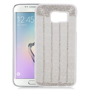 Insten Checker Hard Rhinestone Case For Samsung Galaxy S6 Edge - White