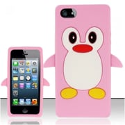 Insten Light Pink Funny Penguin Silicone Soft Skin Case Cover For Apple iPhone SE 5