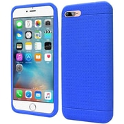 Insten Rugged Skin Rubber Cover Case For Apple iPhone 7 - Blue