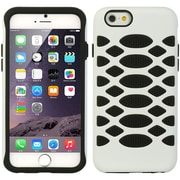 Insten Hard Dual Layer Rubber Coated Silicone Case For Apple iPhone 6 / 6s - White/Black