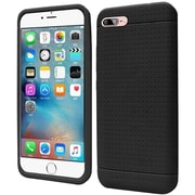 Insten Rugged Silicone Rubber Case For Apple iPhone 7 - Black