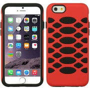 Insten Hard Dual Layer Rubberized Silicone Case For Apple iPhone 6s Plus / 6 Plus - Red/Black