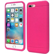 Insten Rugged Rubber Case For Apple iPhone 7 - Hot Pink