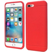 Insten Rugged Silicone Rubber Case For Apple iPhone 7 - Red