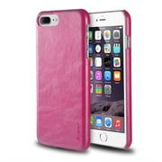 iPhone 7 Plus Case, by Insten Ultra Slim Rear Leather Hard Shell Case for Apple iPhone 7 Plus - Hot Pink