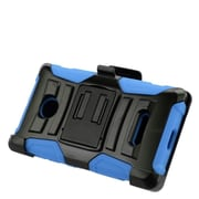Insten Hard Hybrid Plastic Silicone Stand Case with Holster For Microsoft Lumia 435 - Black/Blue
