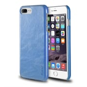 iPhone 7 Plus Case, by Insten Ultra Slim Rear Leather Hard Shell Case for Apple iPhone 7 Plus - Blue