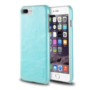 iPhone 7 Plus Case, by Insten Ultra Slim Rear Leather Hard Shell Case for Apple iPhone 7 Plus - Light Blue