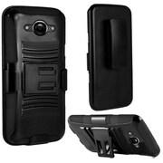 Insten Advanced Armor Hard Hybrid Case w/Holster Stand For Motorola Droid Turbo - Black