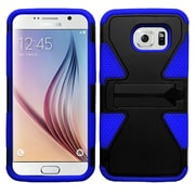 Insten Dynamic Hard Hybrid Shockproof Rubber Coated Silicone Cover Case For Samsung Galaxy S6 - Black/Blue
