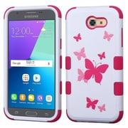 Insten Butterfly Dancing/Hot Pink TUFF Hybrid Case [Military-Grade] For Samsung Galaxy Express Prime 2 / J3 (2017)